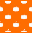 pumpkin pattern seamless vector image vector image