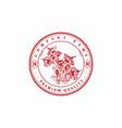 retro vintage hawaiian hibiscus flower logo design vector image