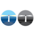 sea lighthouse symbols vector image