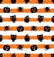 seamless background with pumpkin spider pot owl vector image