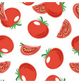 seamless pattern with red ripe tomato vector image vector image