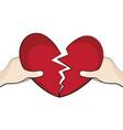 set broken heart it is about love vector image