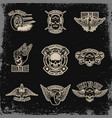set emblems for biker club car repair vector image vector image