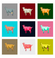 set of in flat style goat vector image