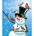 snowman bird 2 380 vector image vector image