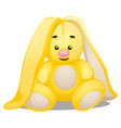 soft toy in the form of yellow rabbit isolated vector image