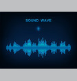 sound wave electronic equalizer vector image vector image