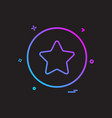 star basic icon design vector image