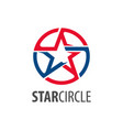 Star circle logo concept design circle star