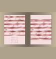 stripe pink foil marble cover set vector image