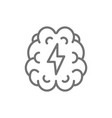 stroke pain in brain line icon vector image