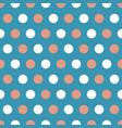 tan and white polka dots on blue background vector image vector image
