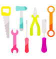 tools equipment icon set vector image