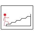 Walking up the stairs vector image vector image