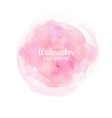watercolor pink abstract hand painted background vector image vector image