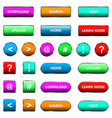 web elements button set vector image vector image