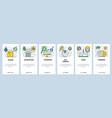web site onboarding screens bakery shop vector image vector image