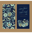 wedding nevy invitation set vector image vector image