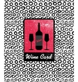 Wine card icon logo menu cover