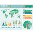 World transportation and logistics Delivery and vector image vector image