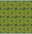 yellow floral pattern isolated on green background vector image
