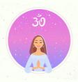 yoga girl namaste vector image vector image
