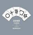 Zener cards vector image vector image