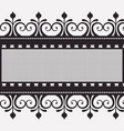 lace horizontal border in monochrome silhouette vector image