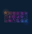 colorful investment banner vector image