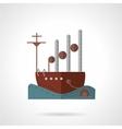 Flat navy vessel icon vector image