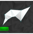 abstract background with black triangles and a vector image