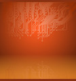 abstract electronics orange background with vector image vector image