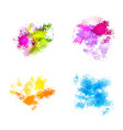 abstract watercolor spots vector image vector image