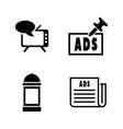 advertising simple related icons vector image vector image