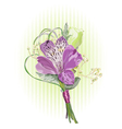 Alstroemeria and Eustoma vector image vector image