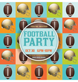 American Football Party Pattern Invitation vector image vector image