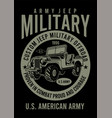 american jeep army vector image vector image