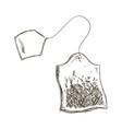 bag tea aromatic vector image