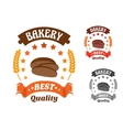 Bakery shop symbol with sliced rye bread vector image vector image