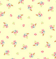 Beautiful floral pattern with small flowers vector image