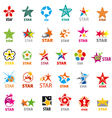 biggest collection of logos stars vector image vector image