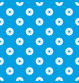 biscuits pattern seamless blue vector image vector image