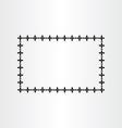 black geometric border frame background vector image vector image