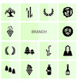 branch icons vector image vector image