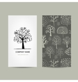 Business card design floral tree vector image vector image
