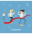 Business people compete in the race vector image