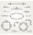 Calligraphic decorative elements vector image
