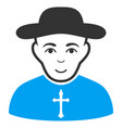 christian priest flat icon vector image vector image