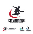 city runner logo vector image