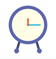 colorful silhouette of clock icon vector image